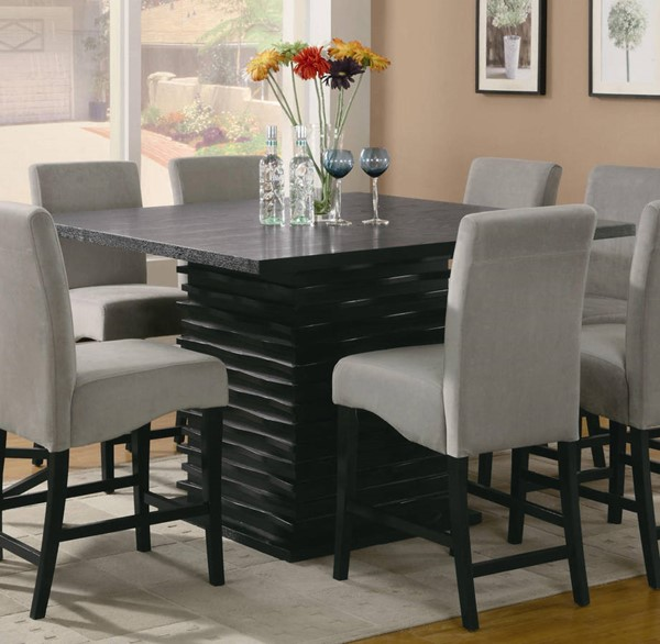 Stanton Contemporary Black Wood Counter Height / Bar Table CST-102068