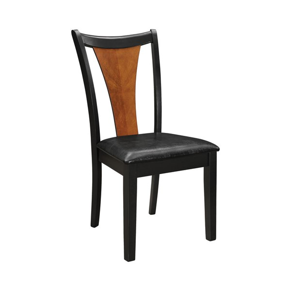 2 Coaster Furniture Boyer Amber Black Side Chairs CST-102092