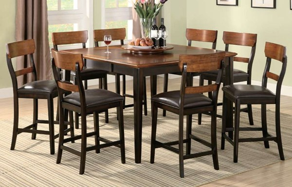 Franklin Transitional Dark Brown 9pc Counter Height Bar Set CST-102198-S