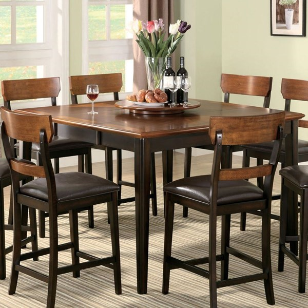 Franklin Transitional Dark Brown Wood Counter Height Table CST-102198