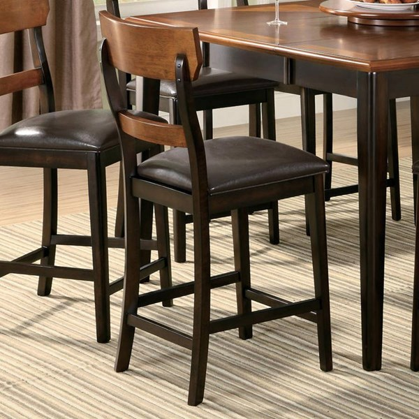 2 Franklin Transitional Dark Brown Counter Height Stools CST-102199