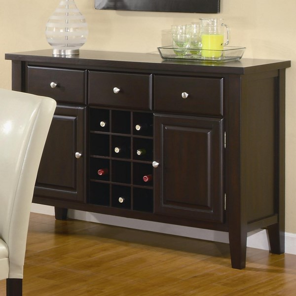 Carter Casual Cappuccino Wood Drawers Server CST-102265