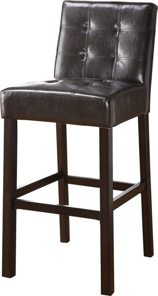 2 Cappuccino Wood Leatherette Bar Stools CST-102576
