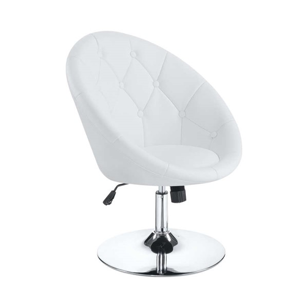 Coaster Furniture White Button Tufted Swivel Chair CST-102583