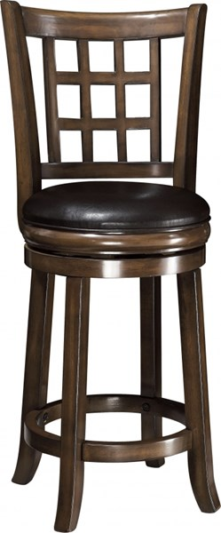 Casual Brown Wood Leather Like Vinyl Counter Height/Bar Stool CST-102639-V