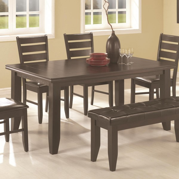 Transitional Cappuccino Wood Dining Table CST-102721