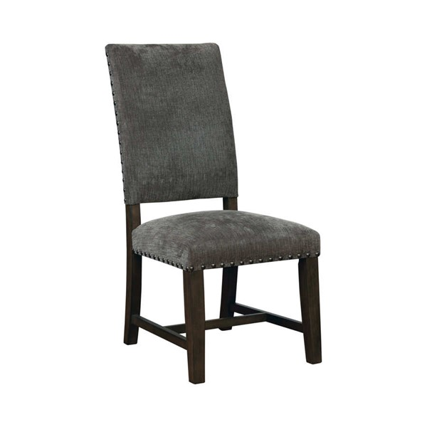 2 Coaster Furniture Grey Fabric Seat Solidwood Frame Dining Chairs CST-102819