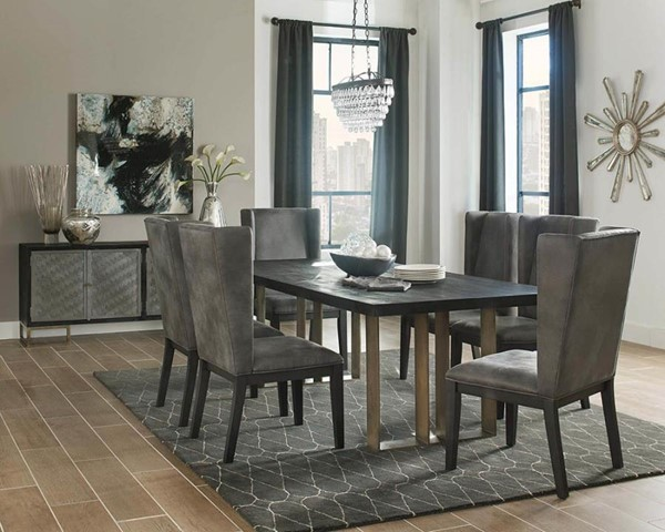 2 Coaster Furniture Friedman Charcoal Grey Side Chairs CST-102969