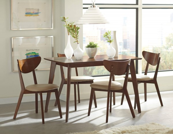 Kersey Chestnut Wood 5pc Dining Room Set CST-103061-DR-S