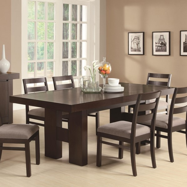 Dabny Contemporary Cappuccino Wood Dining Table CST-103101