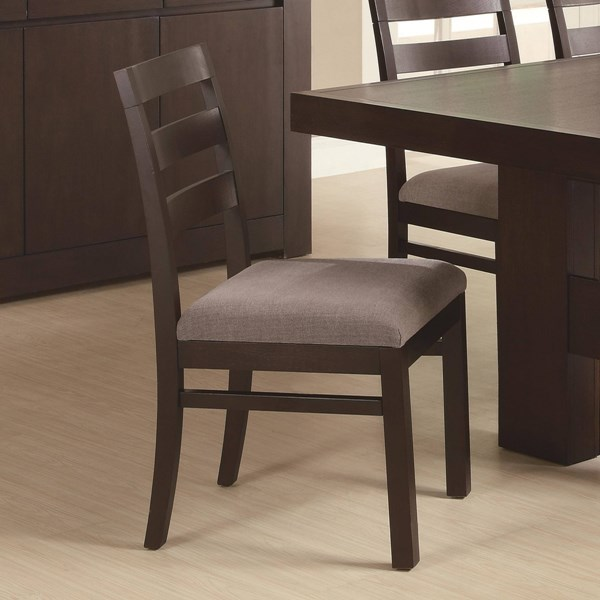 2 Dabny Contemporary Cappuccino Side Chairs CST-103102