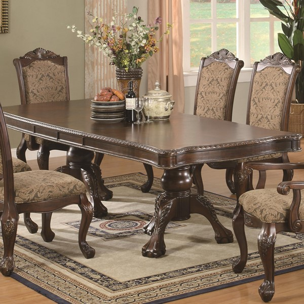 Andrea Traditional Warm Brown Wood Dining Table CST-103111