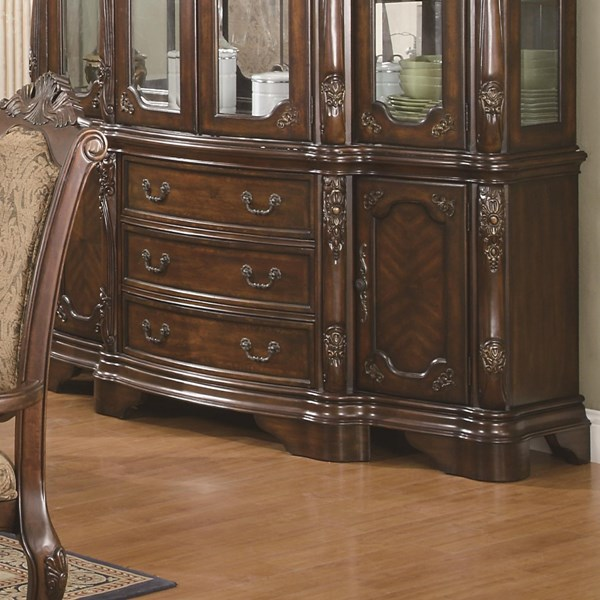 Andrea Traditional Warm Brown Wood Drawer Buffet Only CST-103114B