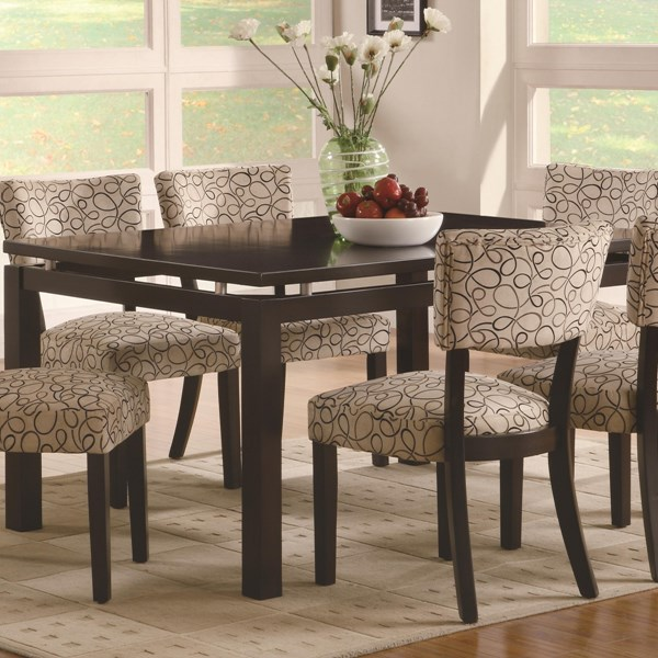 Libby Transitional Cappuccino Wood Dining Table CST-103161