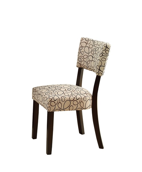 2 Libby Transitional Cappuccino Side Chairs CST-103162