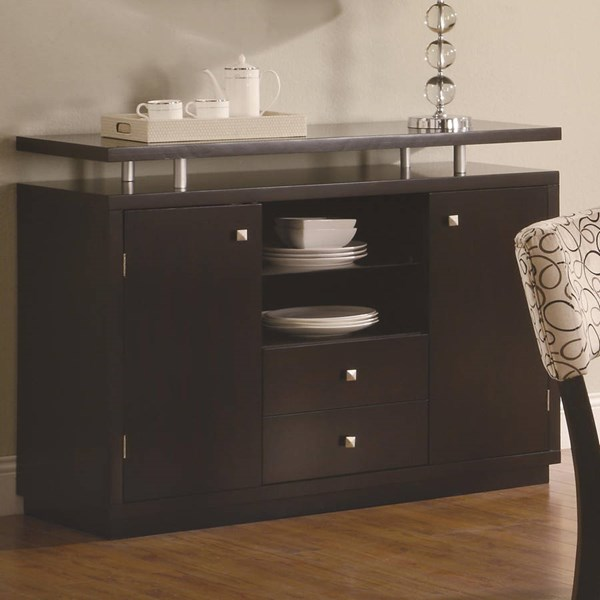 Libby Transitional Cappuccino Wood Drawers Server CST-103165