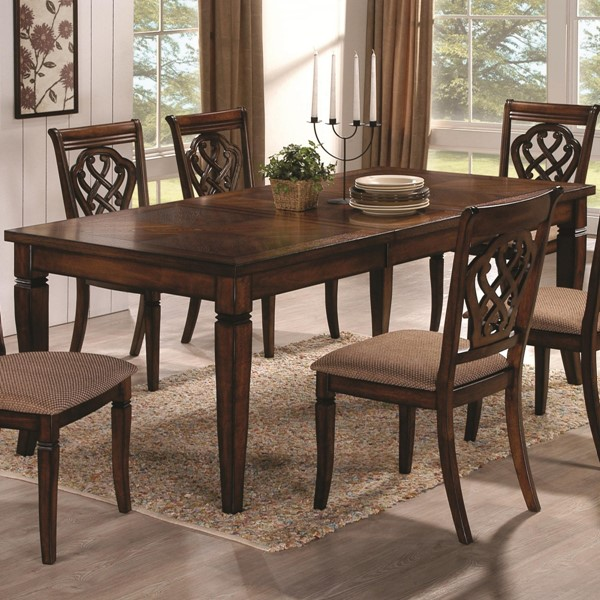 Hayden Antique Brown Wood Extension Leaf Dining Table CST-103391