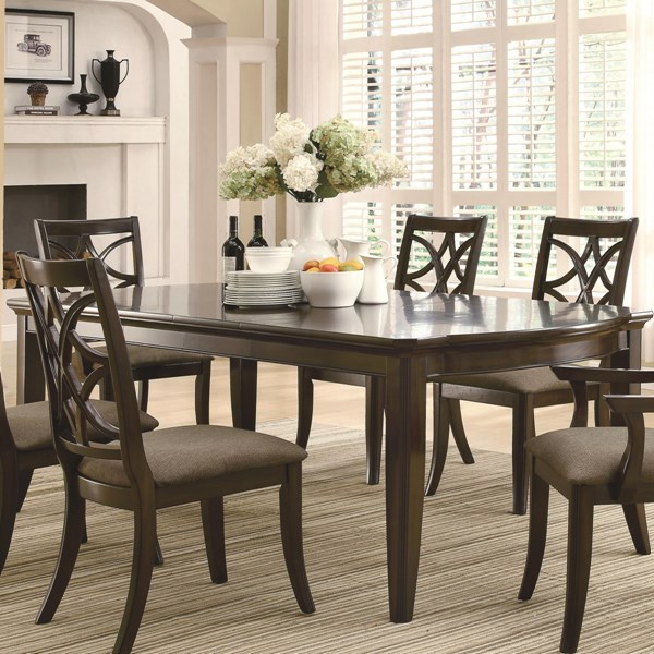Meredith Casual Espresso Wood Dining Table CST-103531