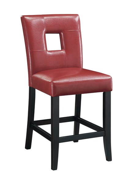 2 Newbridge Red Cappuccino Armless Counter Height Stools CST-103619RED