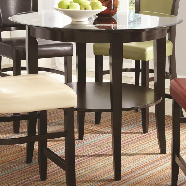 Contemporary Metal Glass Table Top CST-CB42RD