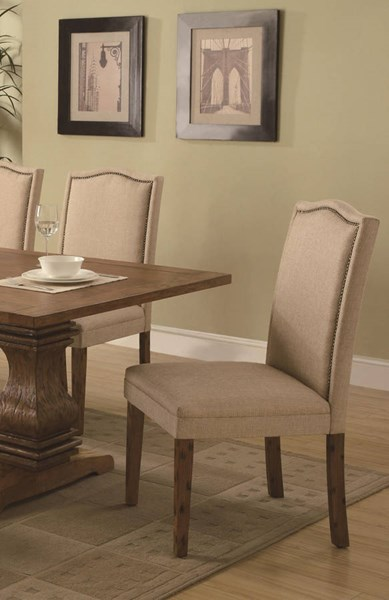 2 Coaster Furniture Parkins Tan Parson Chairs The Classy