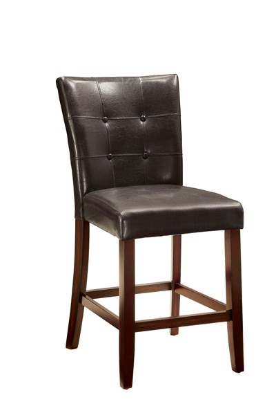 2 Milton Cappuccino Wood Leatherette Counter Height Stools CST-103779