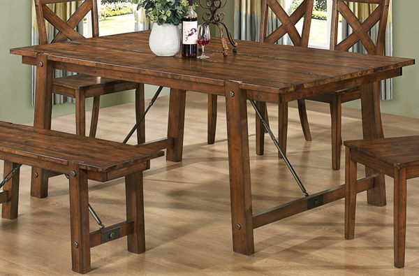 Lawson Casual Rustic Pecan Wood Dining Table CST-103991