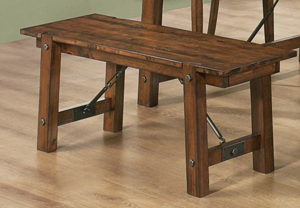 Lawson Casual Rustic Pecan Wood Bench CST-103993