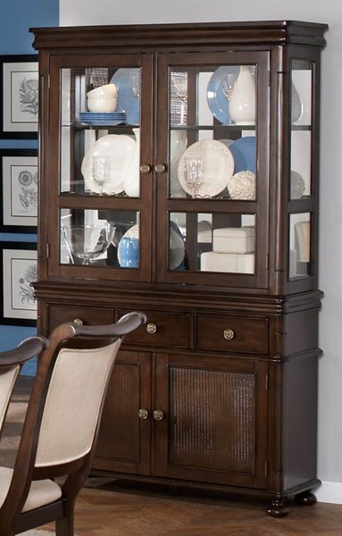 Harris Transitional Cappuccino Wood Hutch CST-104114H