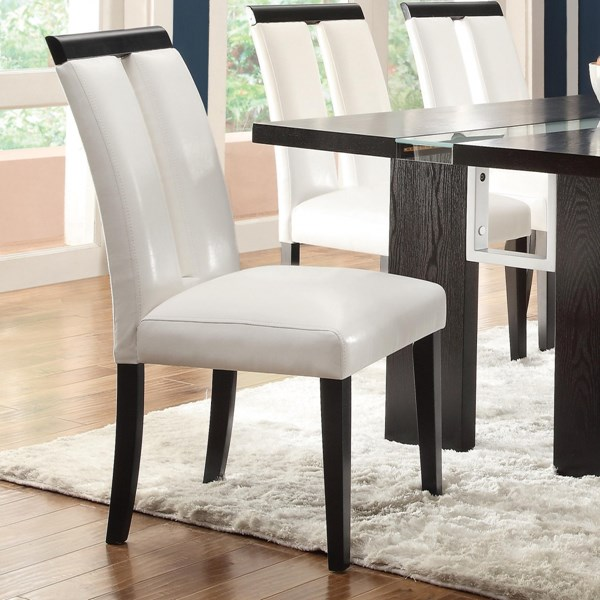 2 Kenneth Contemporary Black/White Wood Veneers & Solids Side Chairs CST-104563