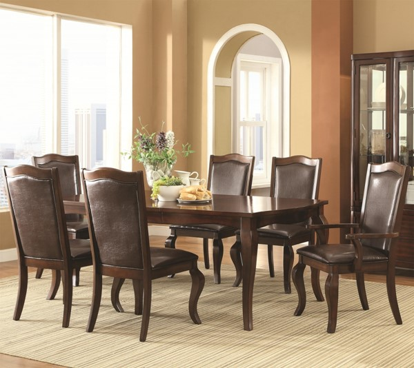 Louanna Transitional Espresso Wood 7pc Dining Room Set CST-104841-DR-S