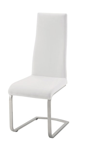 4 Geneva White Faux Leather Dining Chairs CST-104863