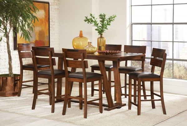 Avalon Dark Amber Wood 7pc Counter Height / Bar Set CST-105018-19