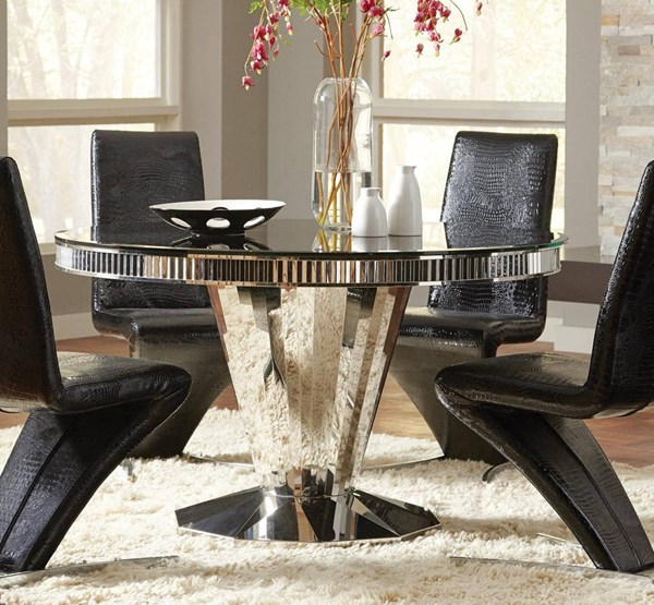 Coaster Furniture Barzini Black Dining Table CST-105061