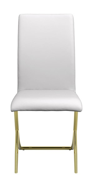 Coaster Furniture Chantar White Leatherette Dining Chairs CST-10517-DC-VAR