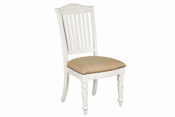 2 Coaster Furniture Simpson Barley White Side Chairs CST-105182