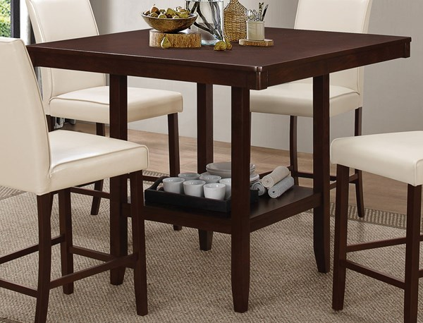 Fattori Transitional Cream Wood Counter Height Dining Table CST-105308