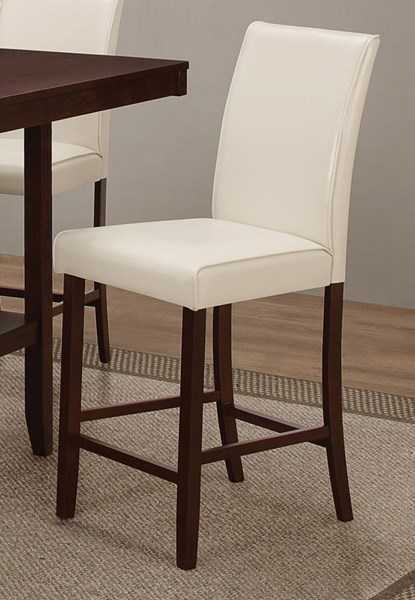 2 Fattori Cream Grey Wood Leatherette Counter Height Chairs CST-105309-19