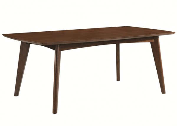 Malone Contemporary Walnut Wood Dining Table CST-105351