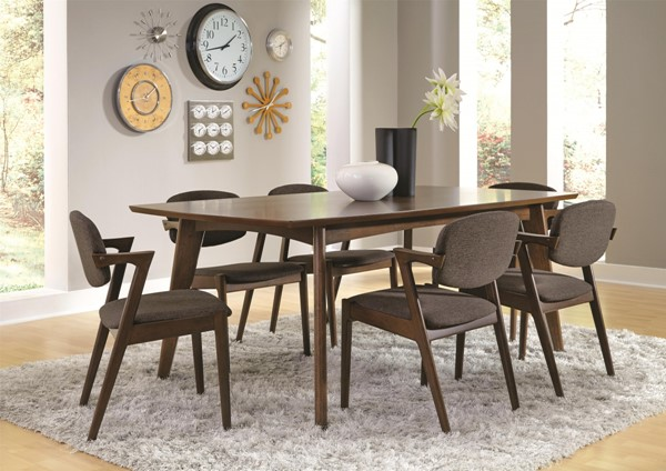 Malone Contemporary Walnut Wood Dining Room Set CST-105351-DR