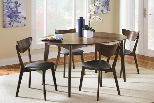 Malone Contemporary Walnut Wood Fabric Dining Room Set CST-105361-DR