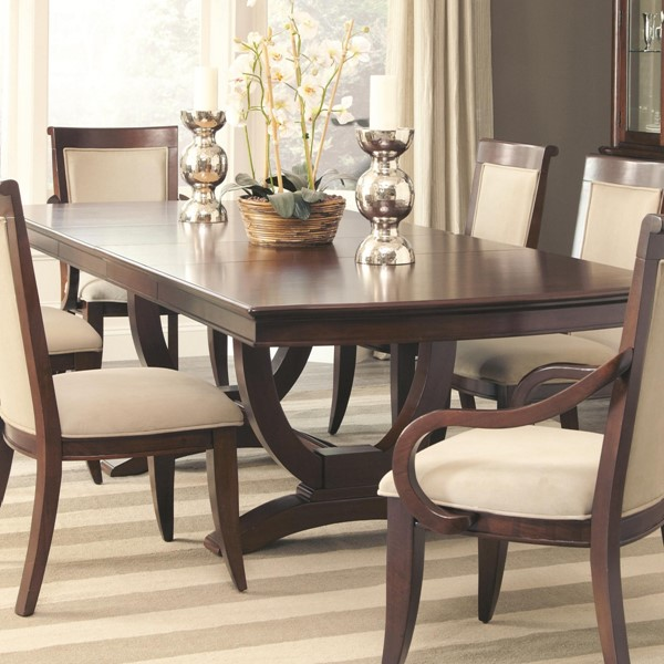 Alyssa Traditional Cognac Wood Rectangle Dining Table CST-105441