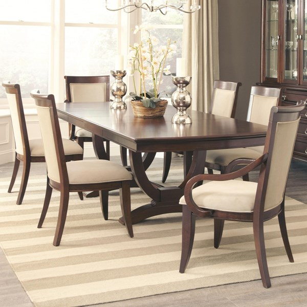 Alyssa Traditional Cognac Wood Rectangle Dining Room Set CST-105441-DR