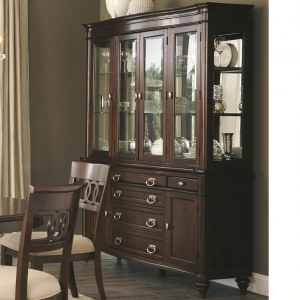 Coaster Furniture Alyssa Cognac Wood Buffet with Hutch CST-105444