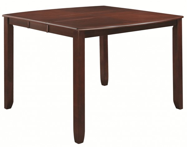 Dupree Transitional Dark Brown Wood Counter Height Table CST-105478