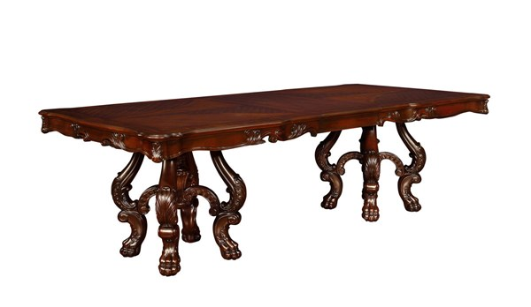 Benbrook Traditional Dark Cherry Wood Rectangle Dining Table CST-105511