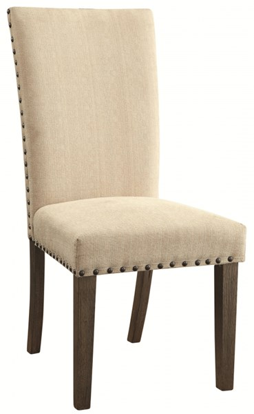 2 Webber Rustic Natural Wood Fabric Side Chairs CST-105572