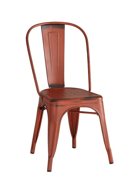 4 Coaster Furniture Bellevue Red Dining Chairs CST-105613