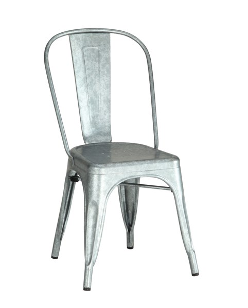 4 Bellevue Rustic Galvanize Metal Dining Chairs CST-105617