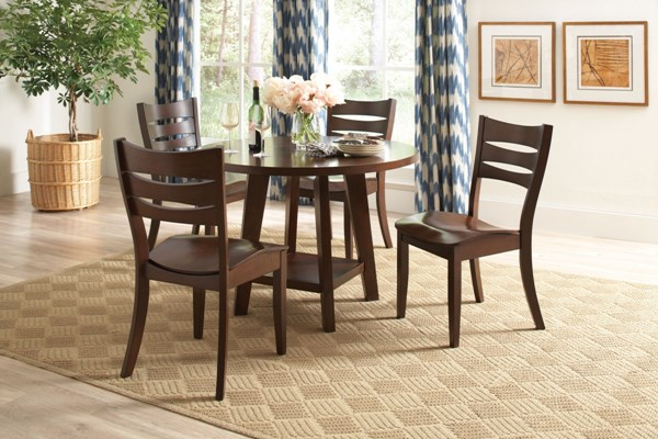 Byron Dark Brown Wood 5pc Dining Room Set CST-10563-DR-S1